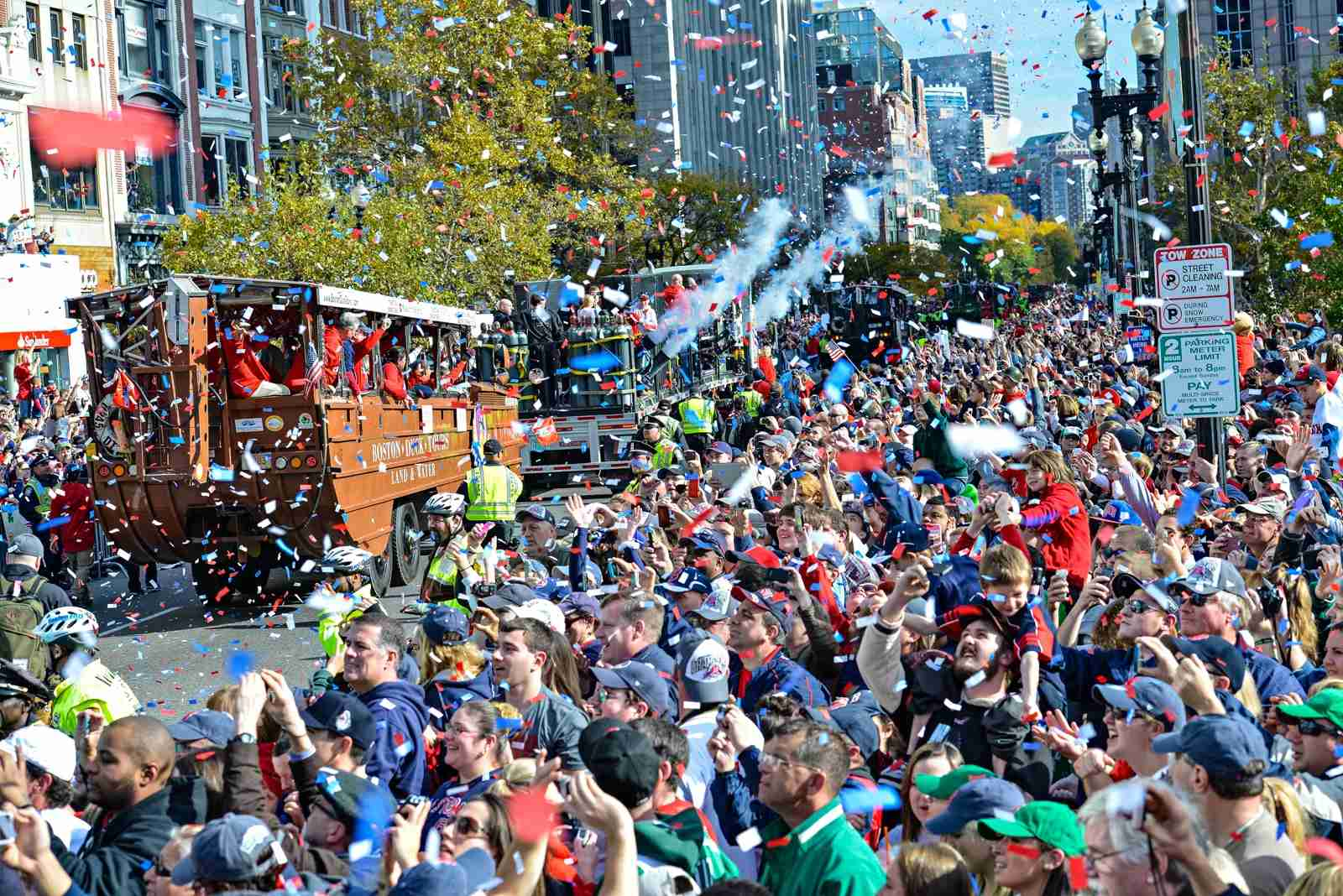 People take sports, especially baseball, very seriously in Boston, as you can see here at the Boston Red Sox World Series victory rally. (Photo by Rick Friedman/Corbis via Getty Images)