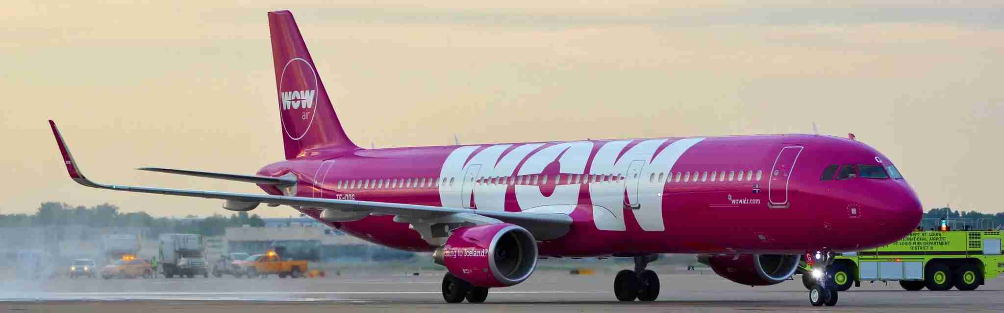WOWair Airbus A320 at St. Louis-Lambert International Airport (STL) (Image by Max Prosperi/The Points Guy(