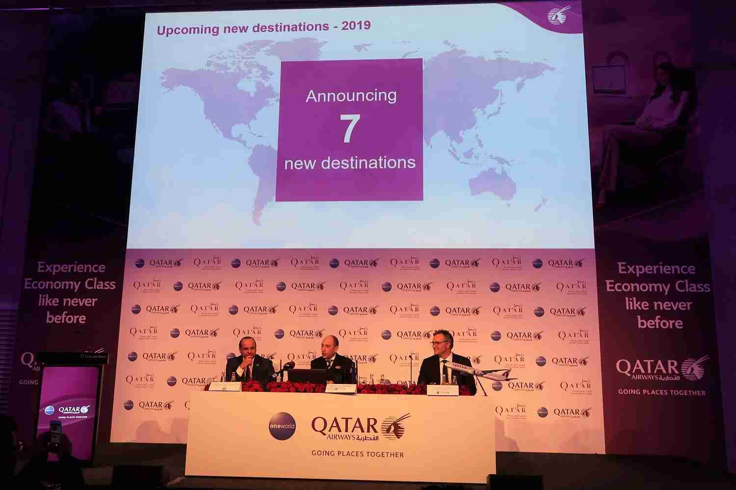 Qatar ITB Press Conference announcing new destinations in 2019 (Photo by JT Genter / The Points Guy)