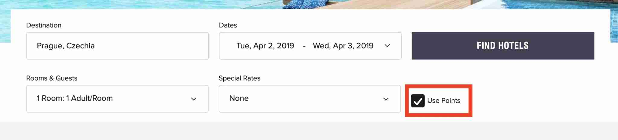 Use points for your Marriott booking