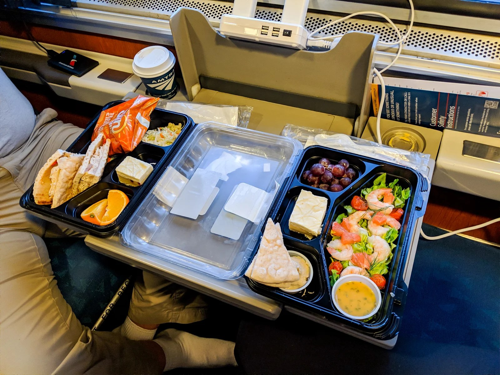 Lower level, inside an Amtrak Empire Builder sleeper car ...
