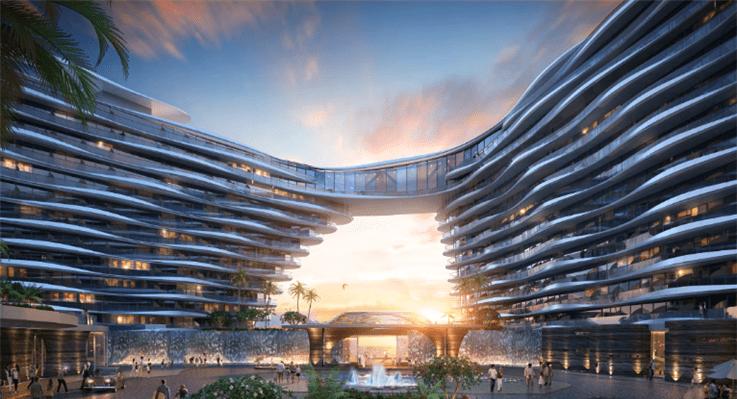 A rendering of the Atlantis Resort. Courtesy of Oceanwide Holdings.