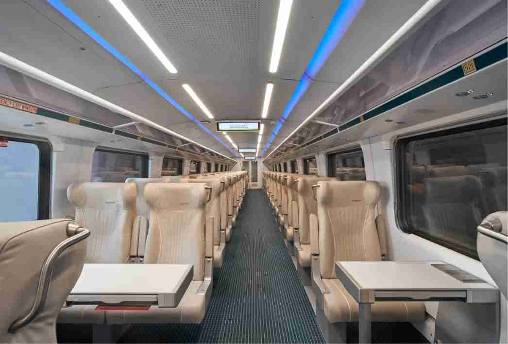 Inside Brightline / Virgin Trains USA. (Rendering courtesy of Brightline)