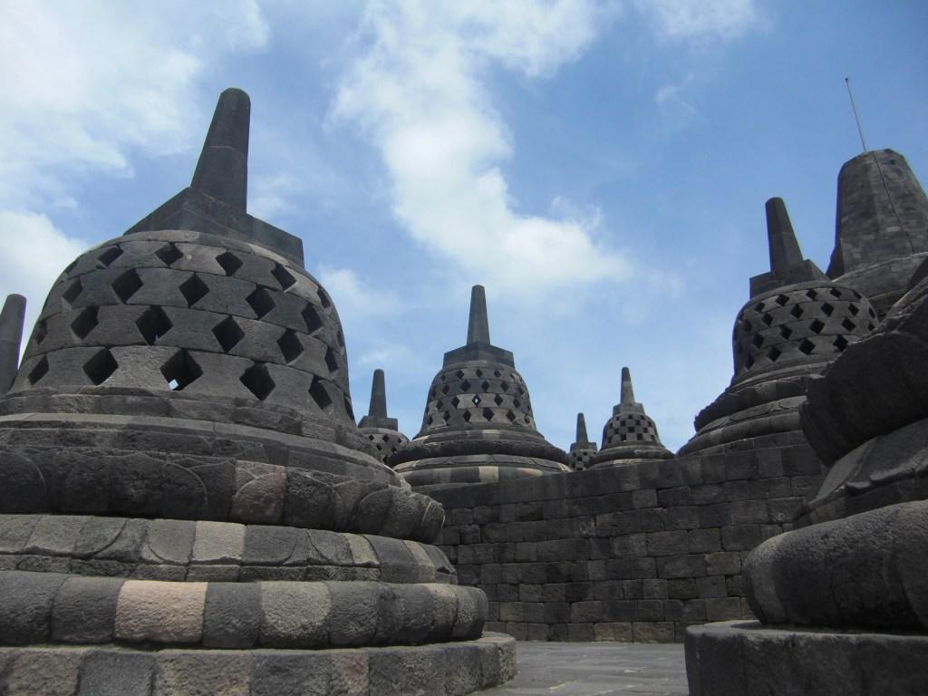 The Buddhist site of Borobodur, near Yogyakarta, will interest older kids (Photo by Elen Turner)