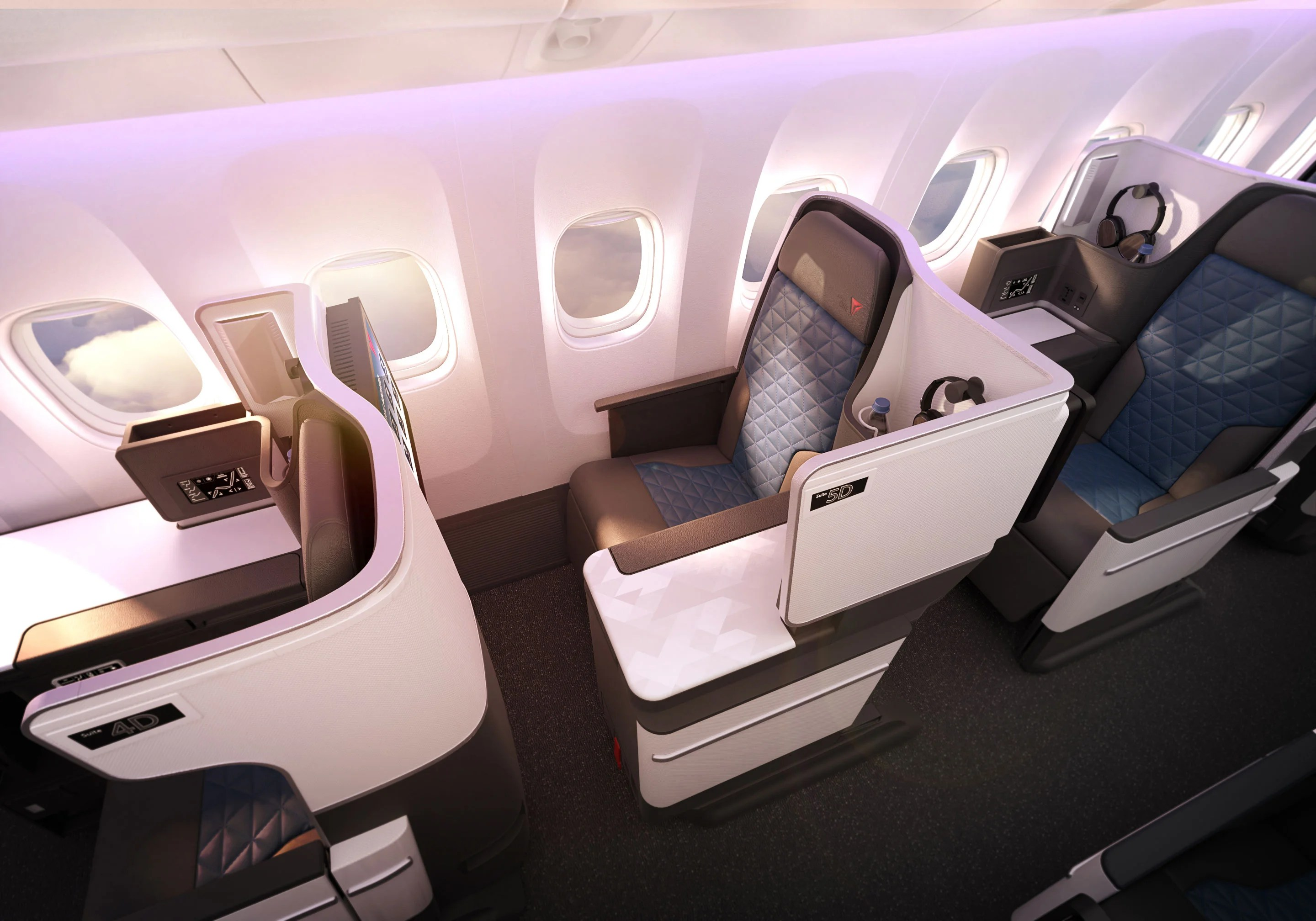 Delta Unveils All New Delta One Seats For Revamped 767 400