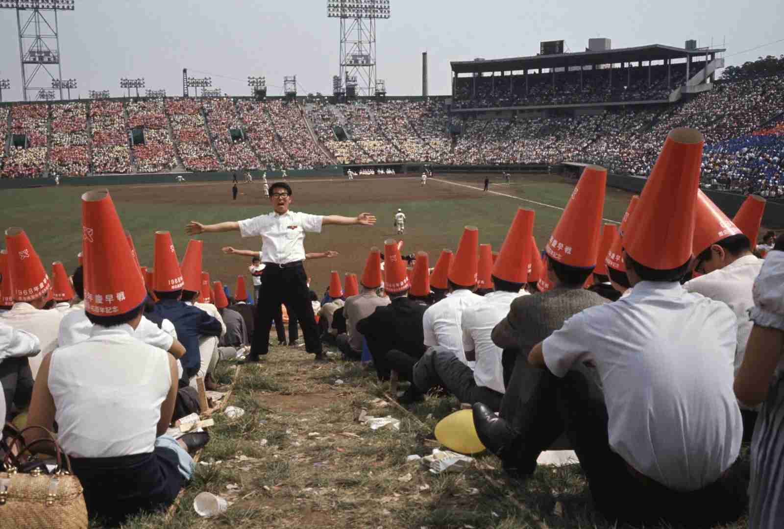 A baseball game in Tokyo, Japan. (Photo by Hans SILVESTER/Gamma-Rapho via Getty Images)