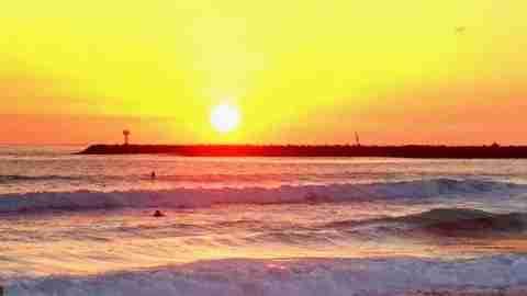sunset Ocean Beach San Diego