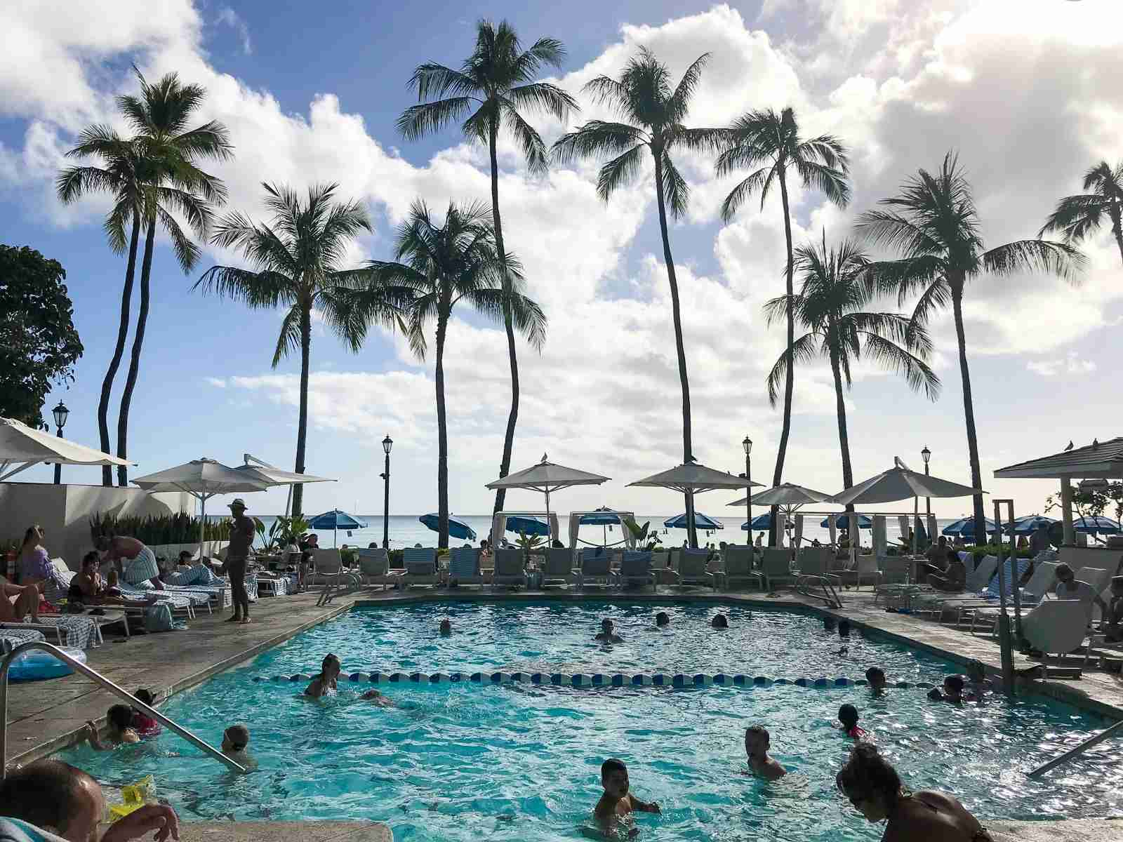 The pool at the Moana Surfrider Hawaii. (Photo by Samantha Rosen/The Points Guy)