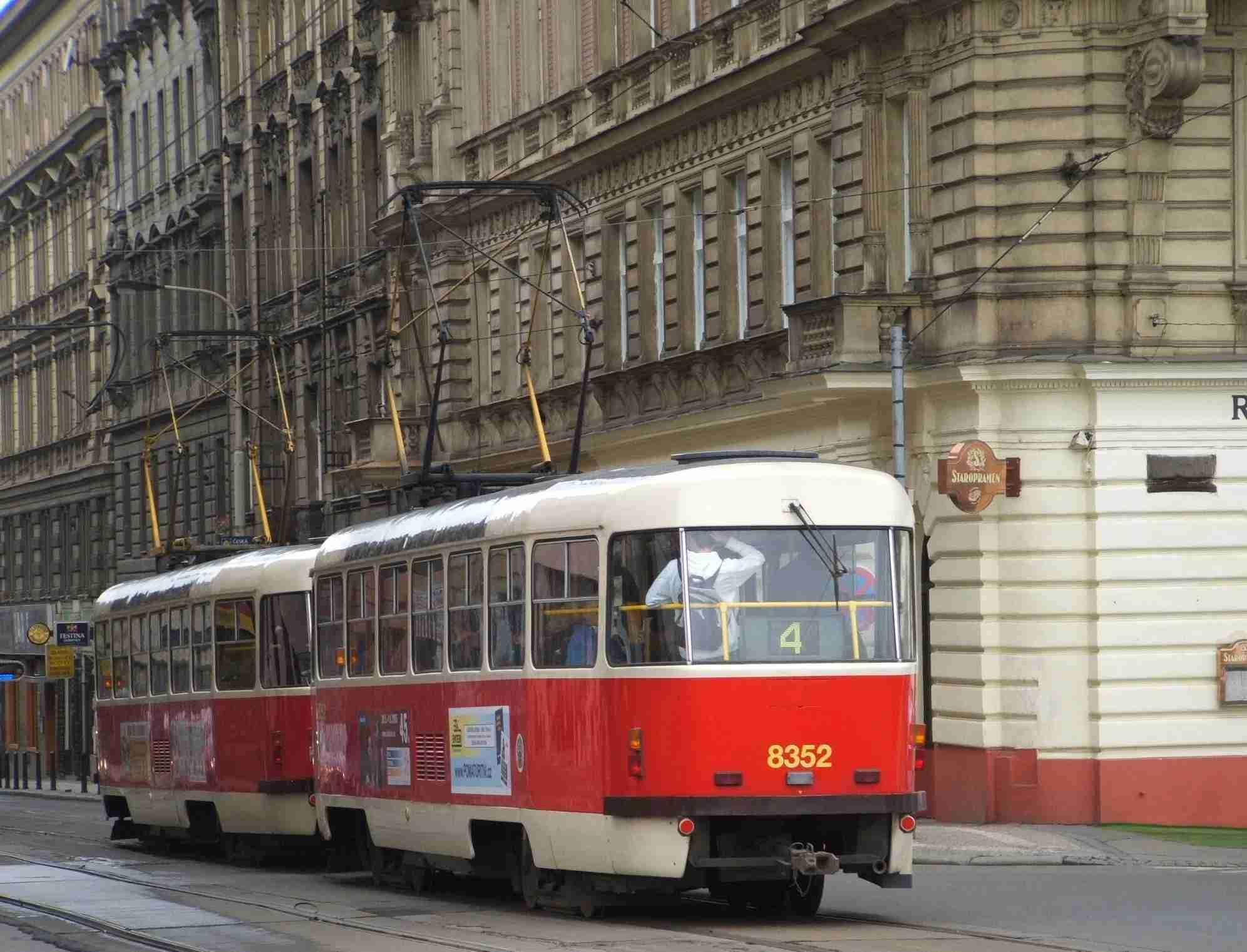 Trams are a convenient way of traveling around Prague. Photo by Elen Turner