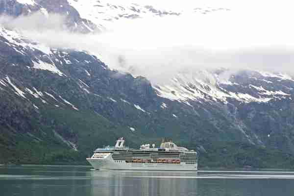 Large cruise ship Island Princess Glacier Bay Inside Passage Southeast Alaska USA. (Photo by Education Images/UIG via Getty Images)
