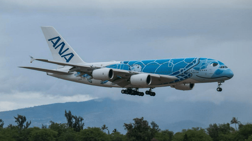 ANA Flying Honu A380 Touches Down in Honolulu for the First Time