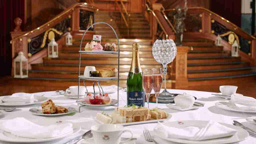 Tea on the Titanic. (Photo courtesy of Visit Belfast)
