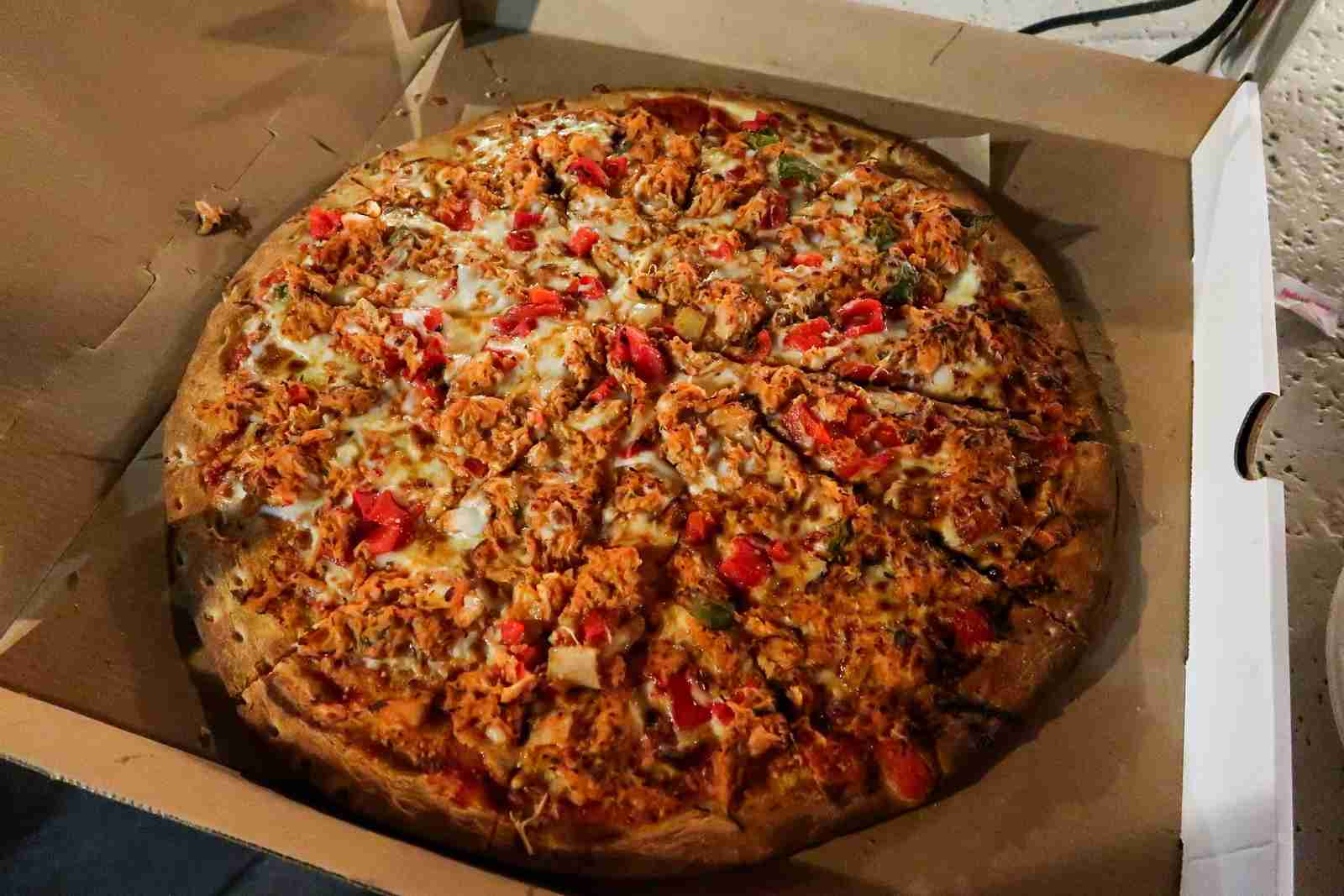 This is what a $41 pizza looks like.