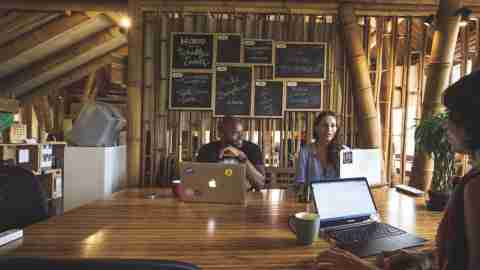 co-working space Hubud, located in Bali