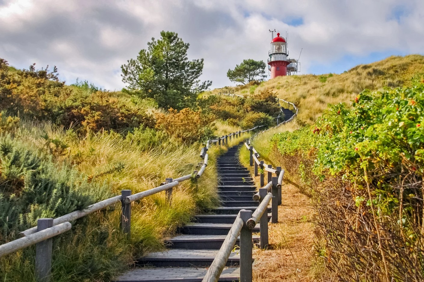 Stairs towards the lighthouse of the Frisian Island of Vlieland on the Wadden Islands.(Photo by Chris Rinckes / Shutterstock)