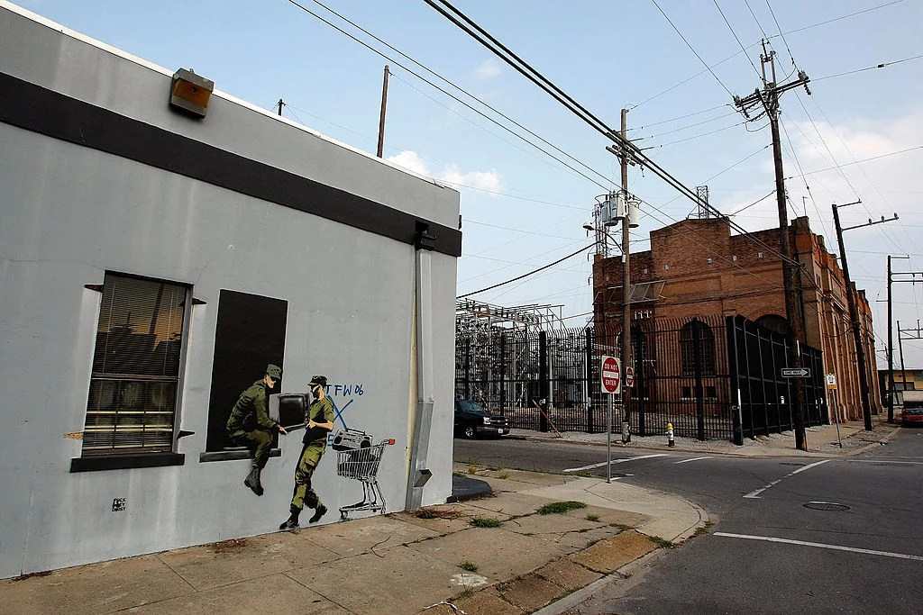 You Can See a Controversial Banksy Mural on Display in New Orleans Right Now