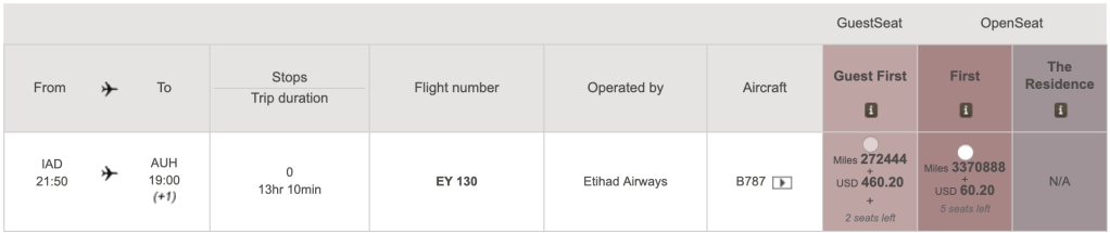 AA.com pulled these same two seats from IAD to AUH on May 13.