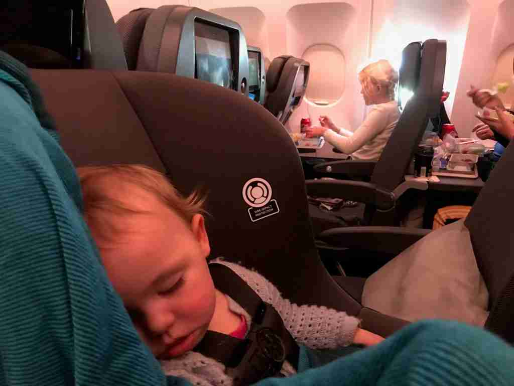 Crashed out shortly after takeoff in her FAA-approved car seat (Terry-Ward.com)