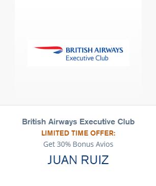british airways bonus