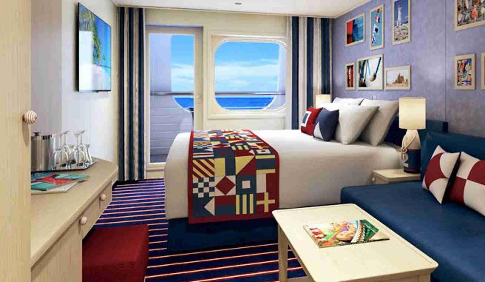 The Carnival Family Harbor room aboard the Carnival Vista. (Photo courtesy of Carnival Cruise Line Blog)