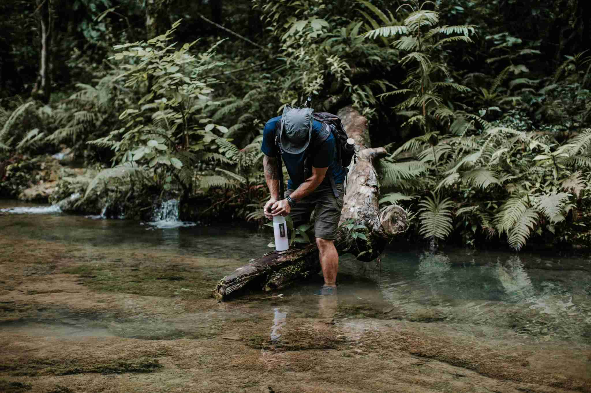 The GRAYL Geopress water bottle has a built-in water purifier. ( Photo courtesy of GRAYL Water Purifiers )
