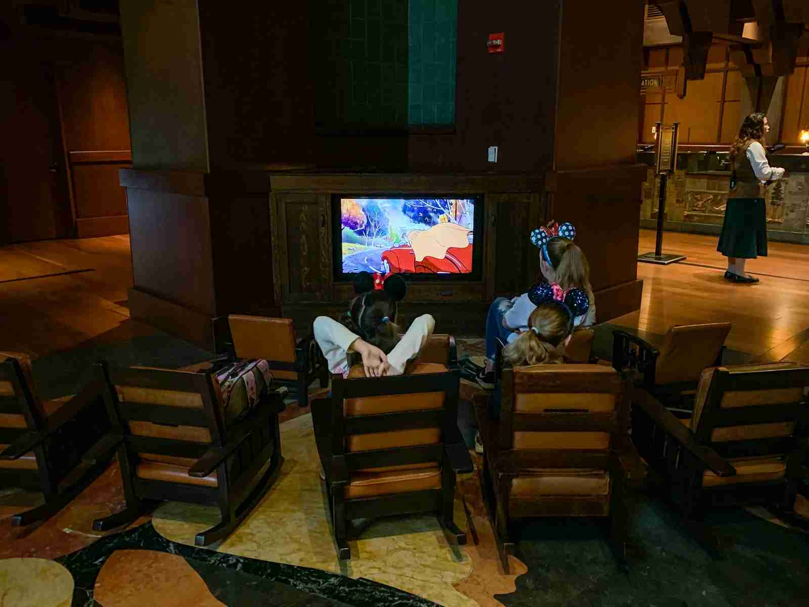 Disneyland Grand Californian Hotel TV Lobby