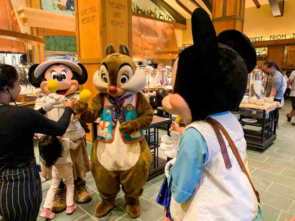 Disneyland Grand Californian Hotel Mascots