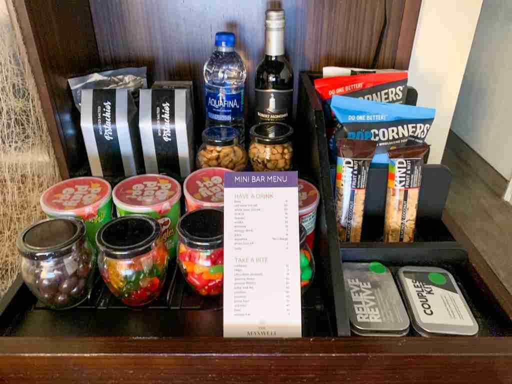 Maxwell Hotel NYC Snacks