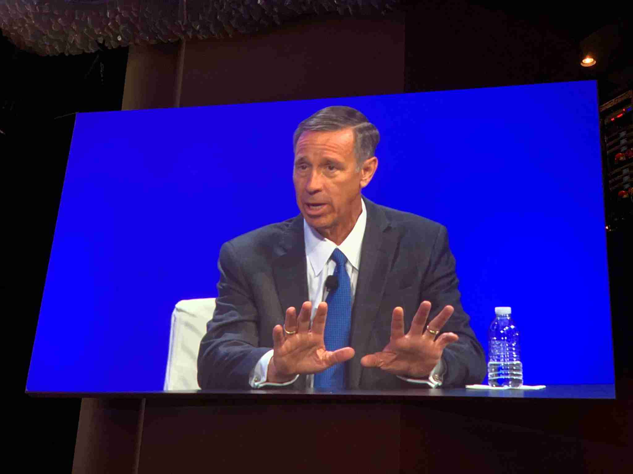 Marriott CEO Arne Sorenson speaks on June 3, 2019 at the 41st annual NYU International Hospitality Industry Investment Conference in New York.