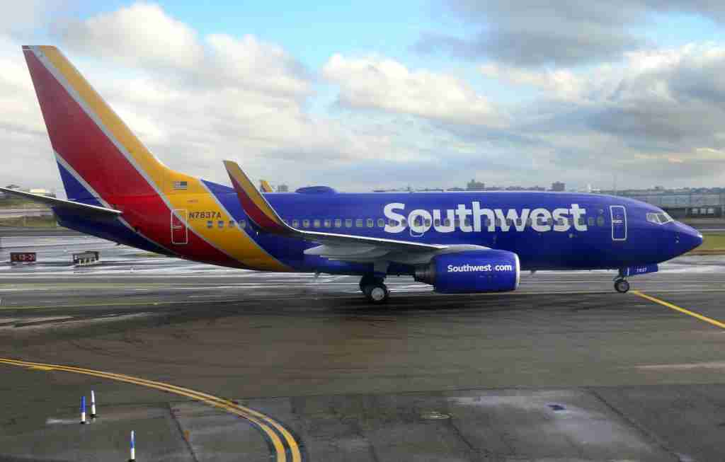 A Southwest Airlines Boeing 737 taxis at LaGuardia Airport on Sept. 7, 2016. (Photo by Robert Alexander/Getty Images)