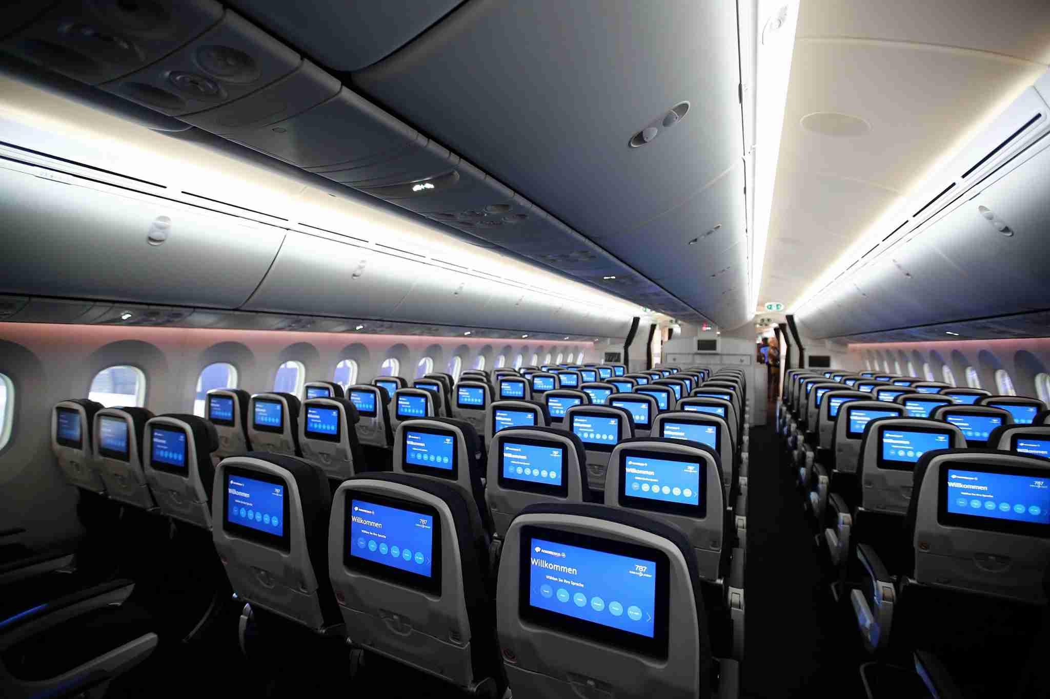 Economy class found on an Aeromexico Boeing 787. (Image by Susana Gonzalez/Bloomberg via Getty Images)