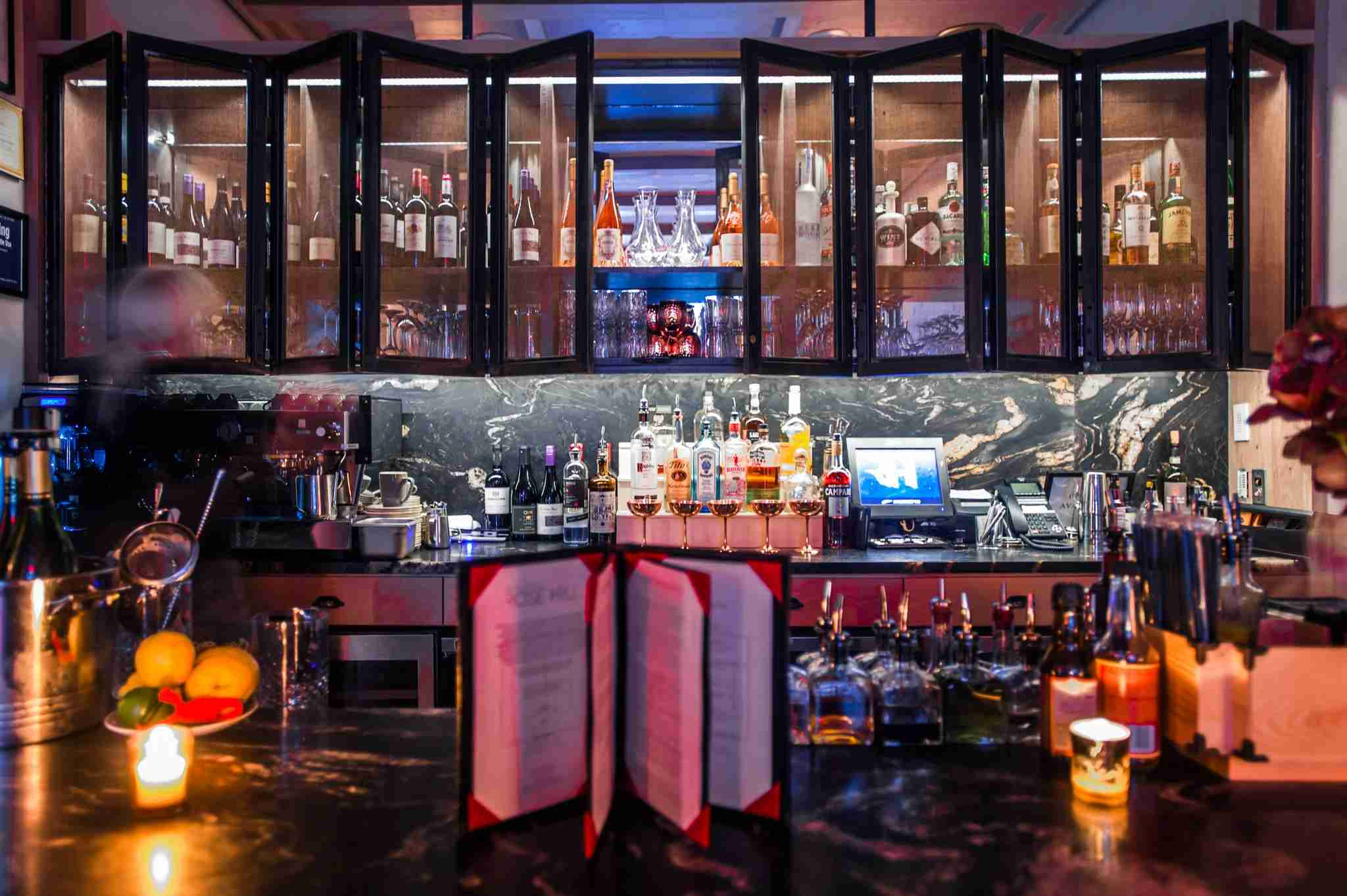 The lobby bar at the HGU New York. (Photo courtesy of the hotel)