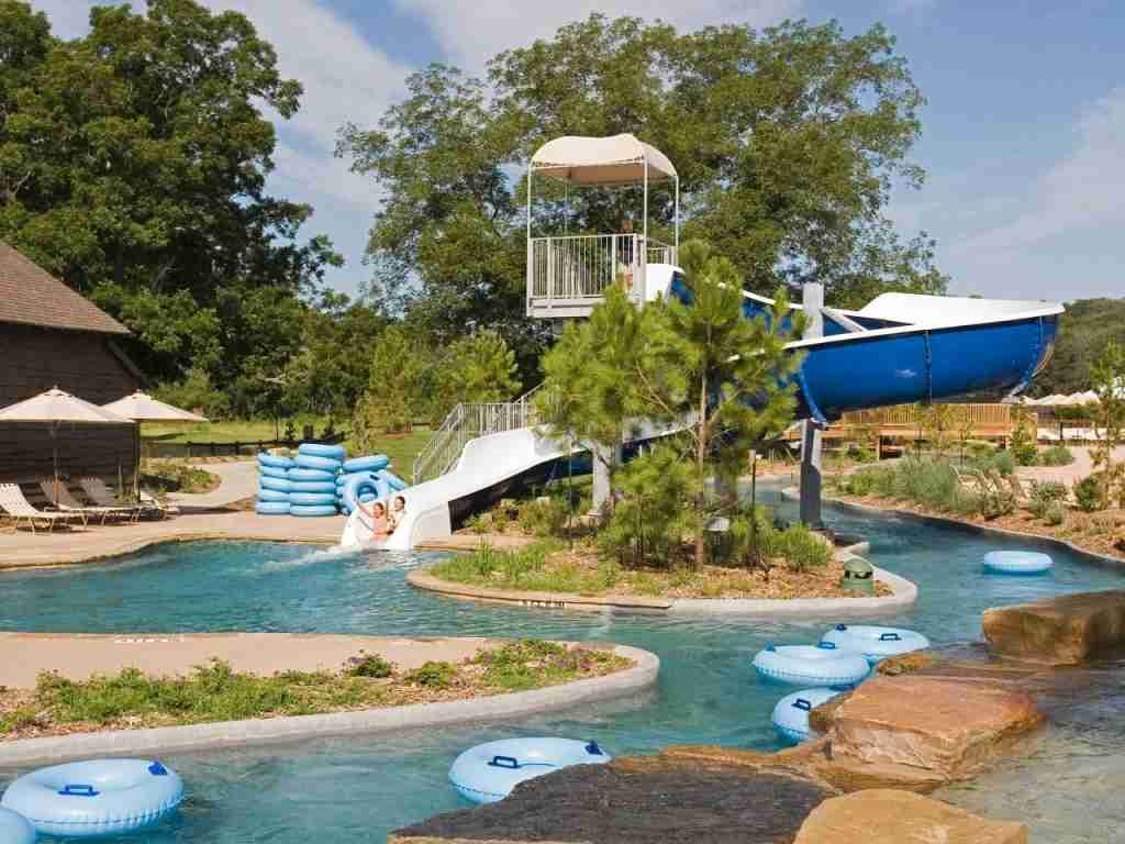 Hyatt Lost Pines Lazy River Slide