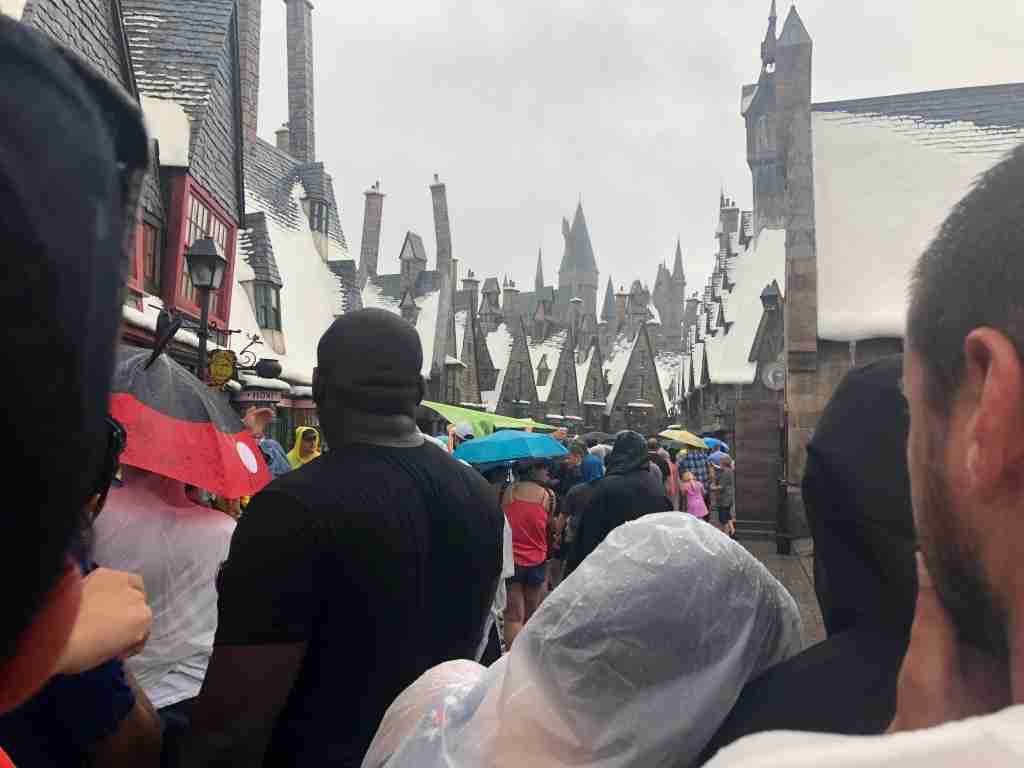 TPG reporter Rona Gindin has been in line all day and weather has temporarily closed the ride several times.