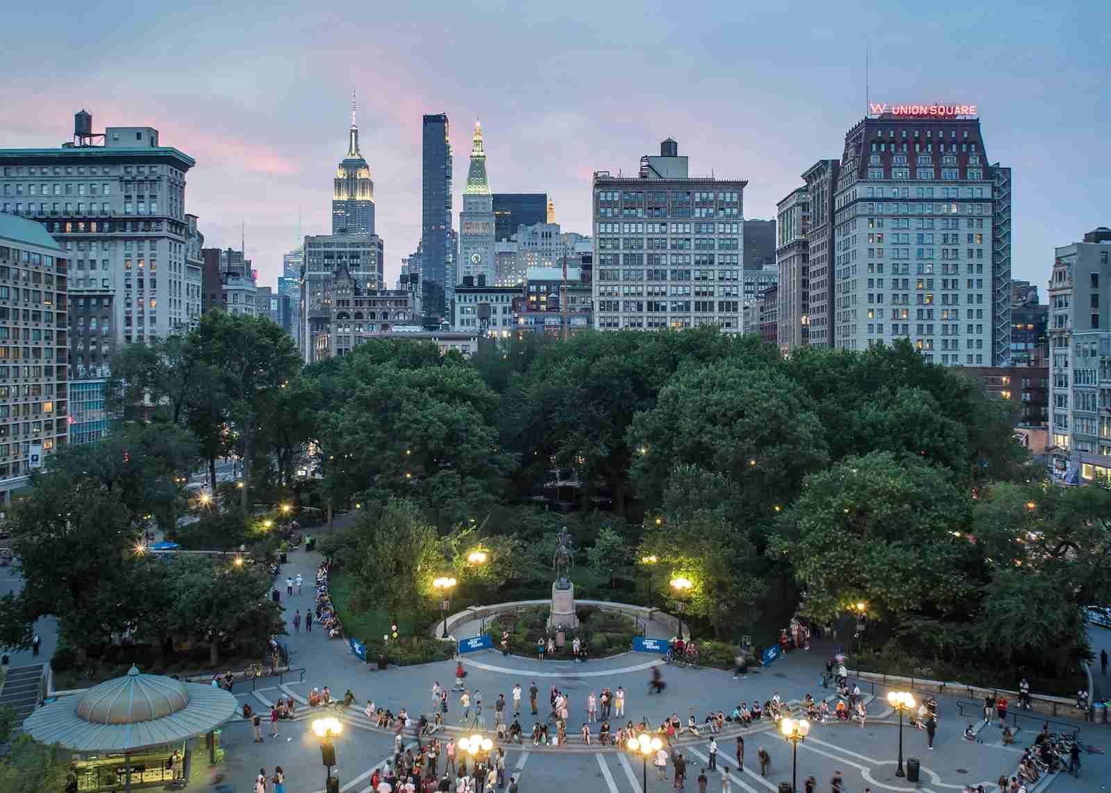 Union Square Twilight New York