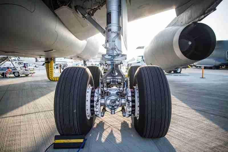 Landing gear bogie on the A330. Image via Adrien Daste / Safran