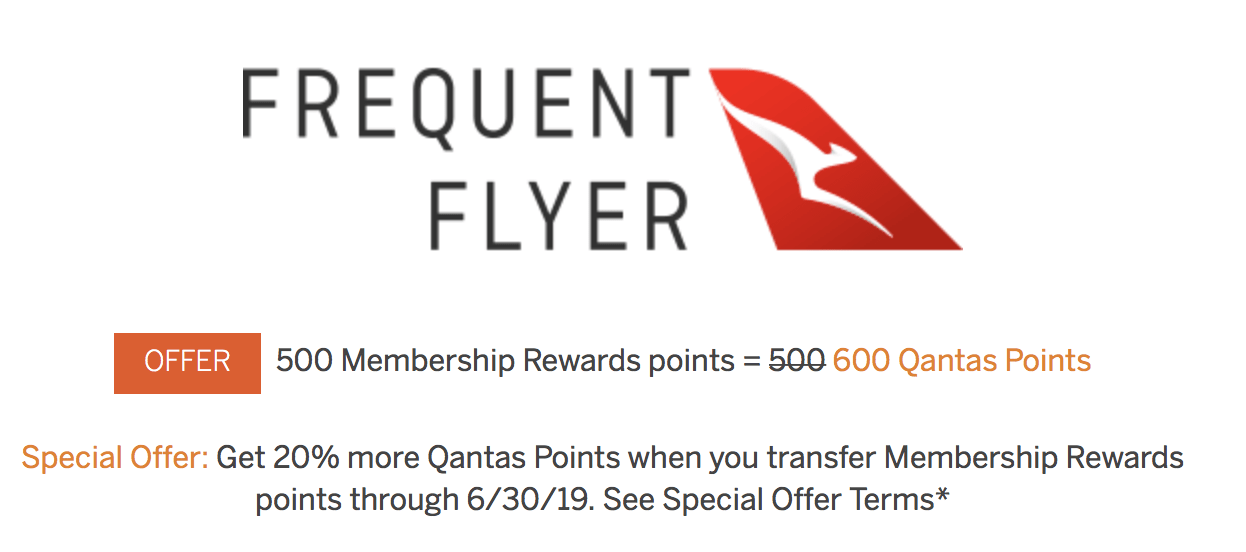 Earn a 20% Bonus When You Transfer Amex Points to Qantas