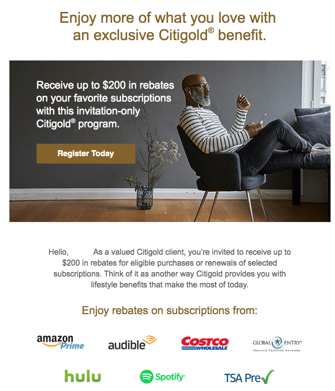 Citigold Adds $200 Credit With Amazon, Costco And More