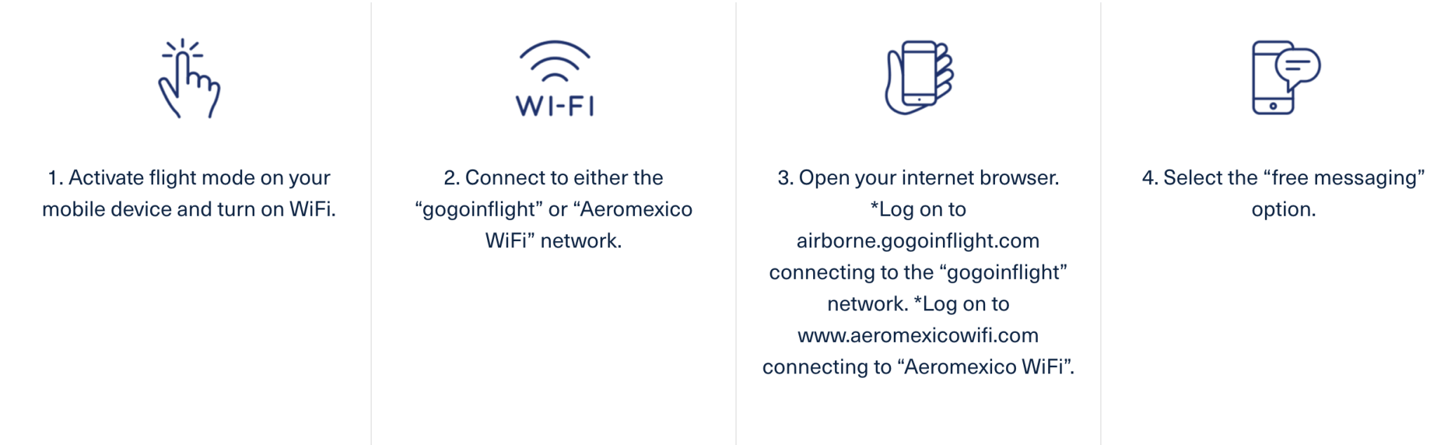 Instructions on how to enable Aeromexico