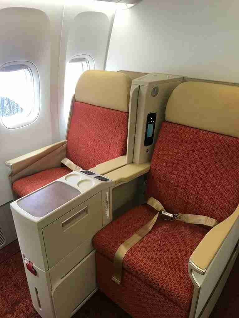 Air India Business Class onboard its new Boeing 777-300ER