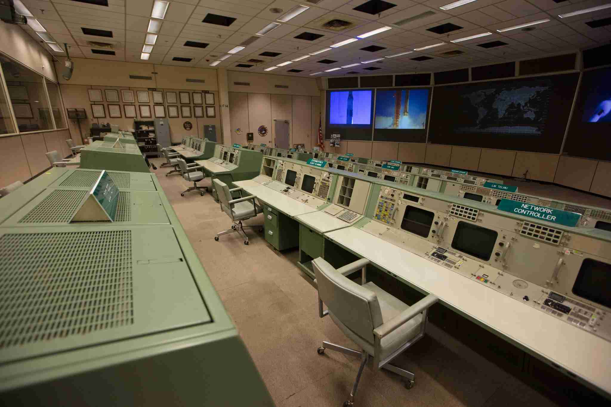 Historic Apollo Mission Control Center. Photo courtesy NASA.