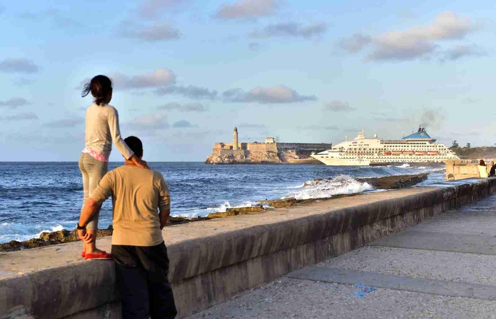 Cuba Cruise ship leaving Havana