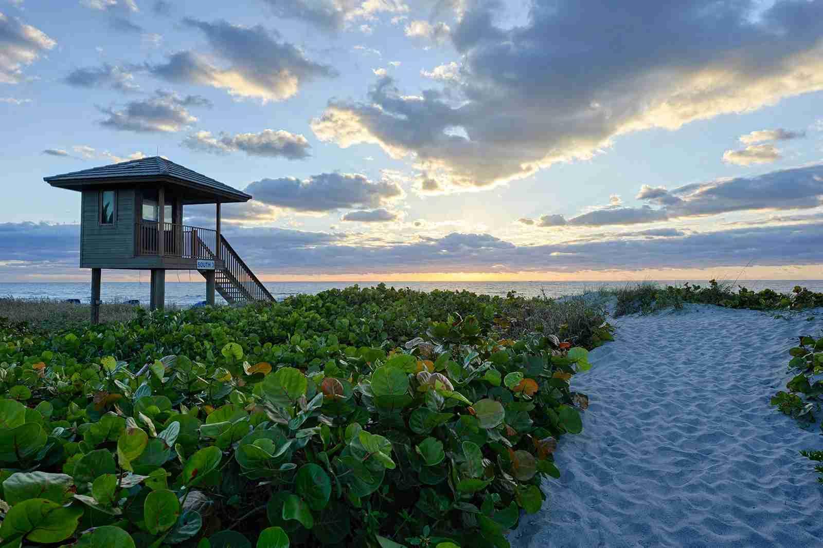 Delray Beach Boca Raton Florida Sunset Tower