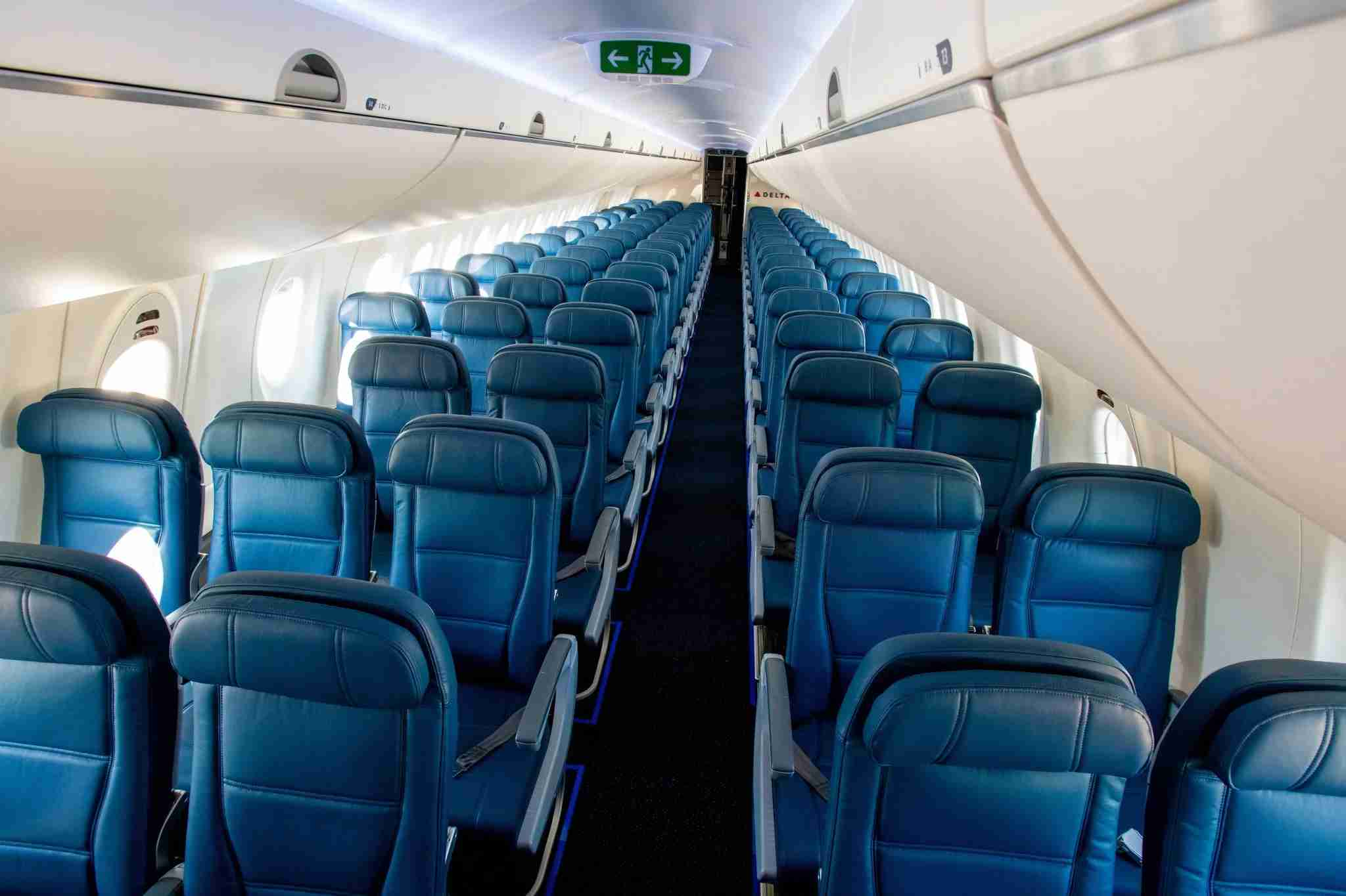 A220 main cabin. Photo courtesy of Delta Airlines.