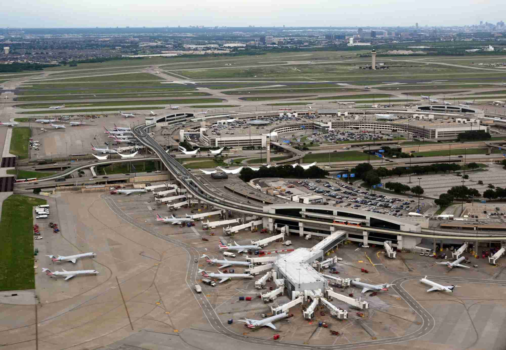 General view of Dallas/Fort Worth International Airport (DFW) on June 12, 2019, (Photo by Daniel SLIM / AFP) (Photo credit should read DANIEL SLIM/AFP/Getty Images)