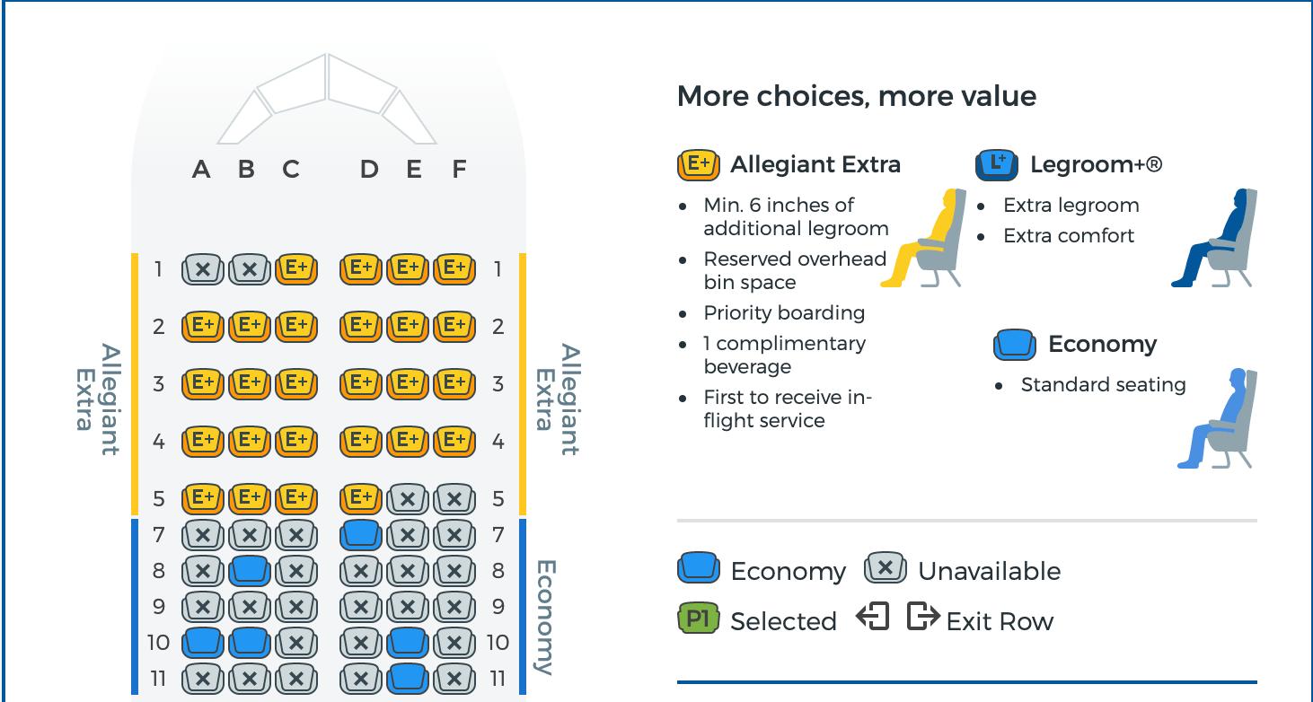 Allegiant Air Tests Premium Economy Seating On Some Flights