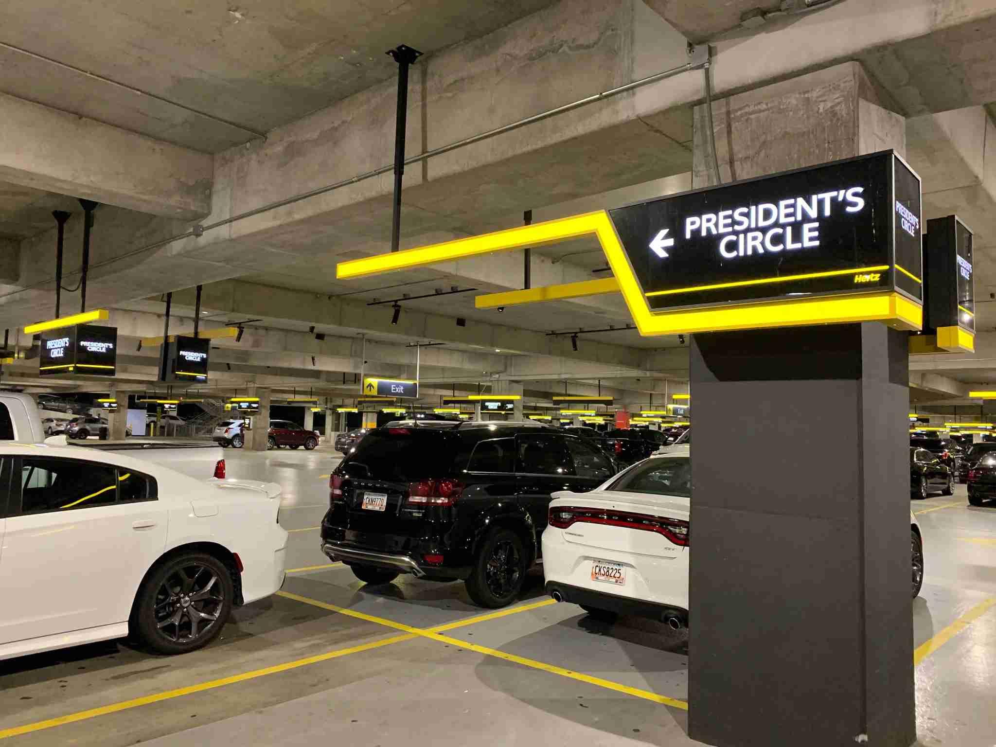 hertz-presidents-circle-garage-airport-2019