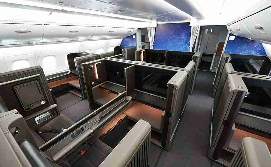 First class on an ANA Airbus A380. (Photo courtesy of ANA)