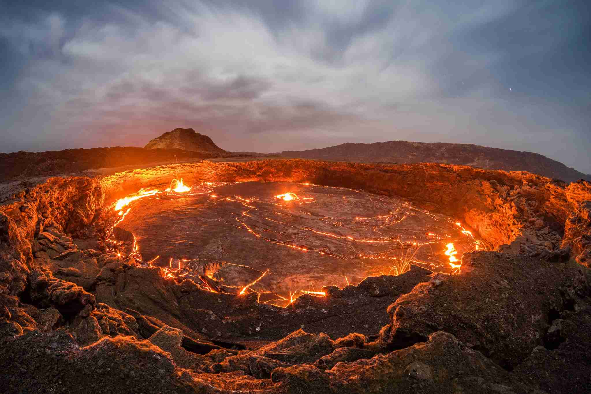 At over 100 years old, Erta Ale is the oldest lava lake in the world. (Photo by Joel Santos / Barcroft Images / Barcroft Media via Getty Images)