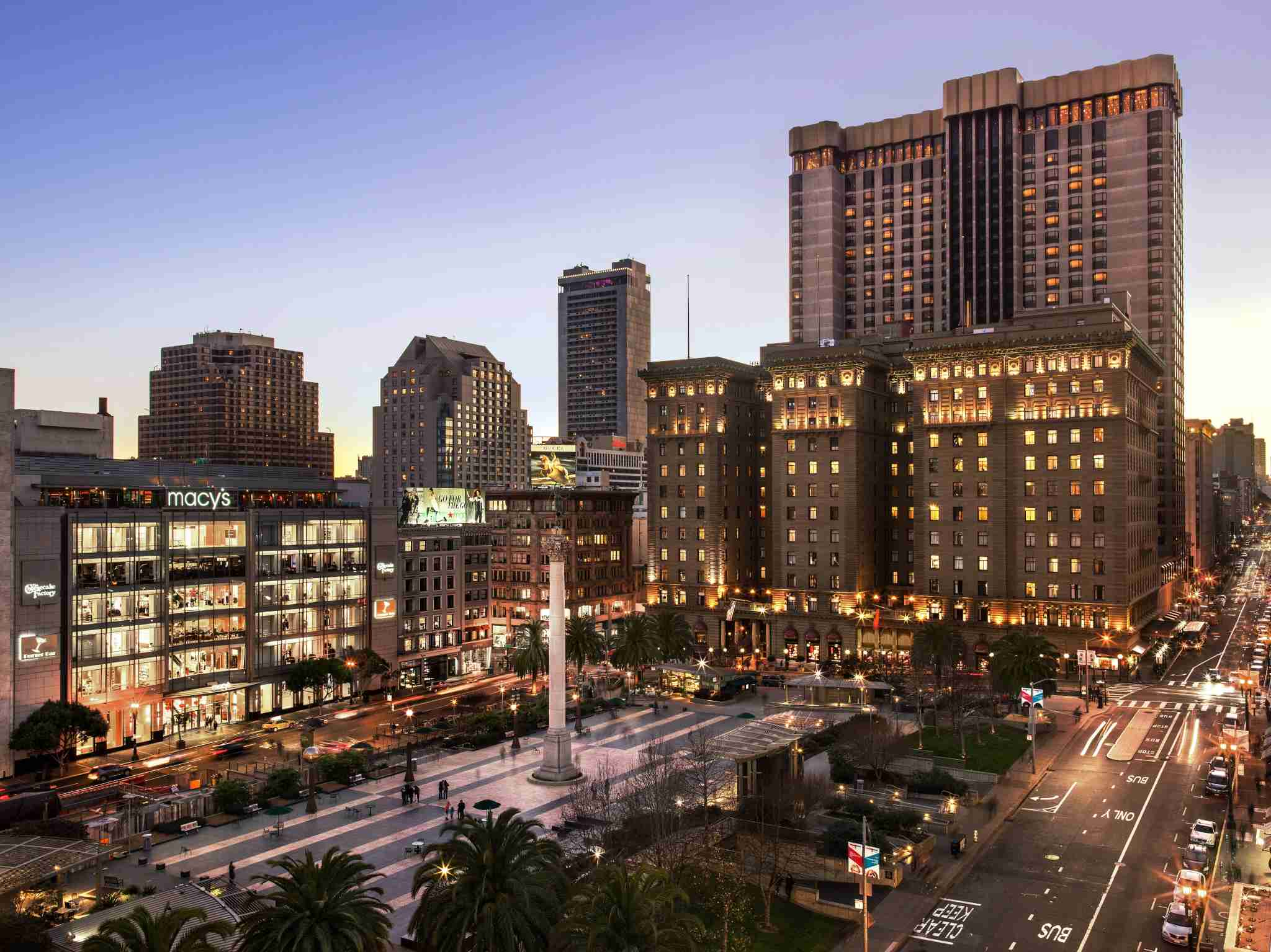 The Westin St. Francis Hotel is conveniently located right on Union Square in San Francisco. (photo courtesy of the hotel)